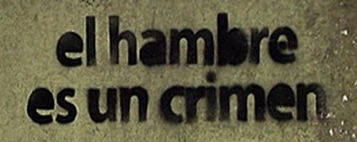 hambre crimen